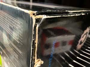 3Dスキャナ 外箱 パッケージ 痛み